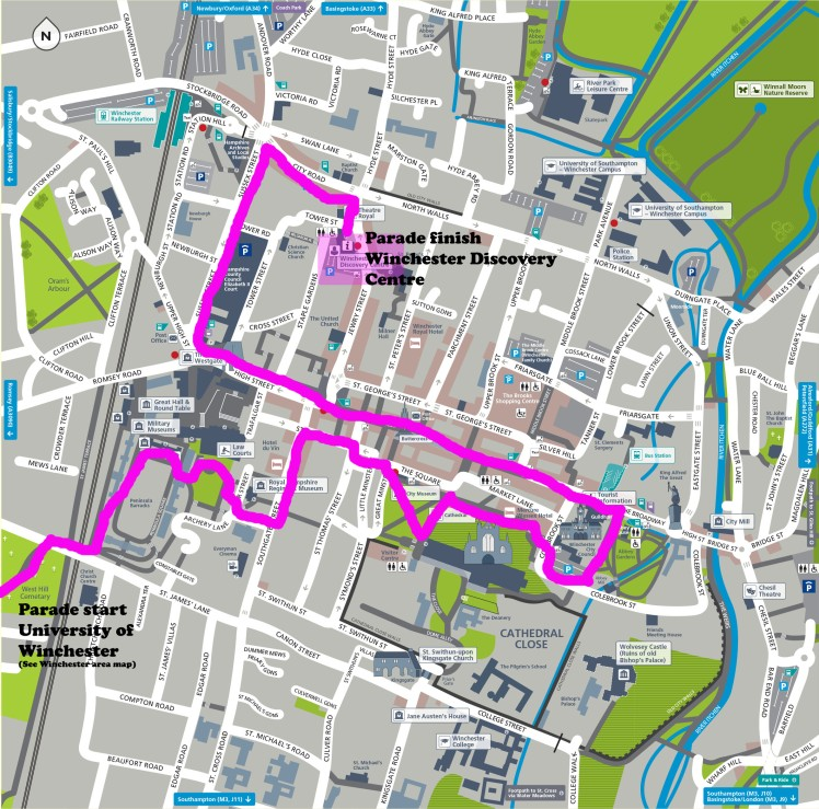 Hampshire Pride Parade Route 2016